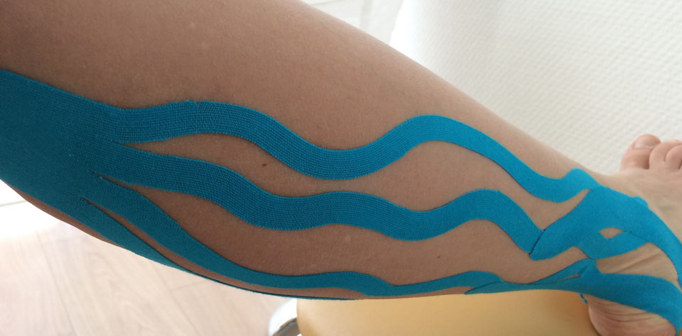 Kinesiotaping, Naturheilpraxis Silvana Williges, Lymphtape, Lymphanlange