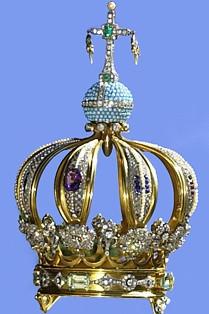Corona de la Virgen donde fue engastado el proyectil del atentado