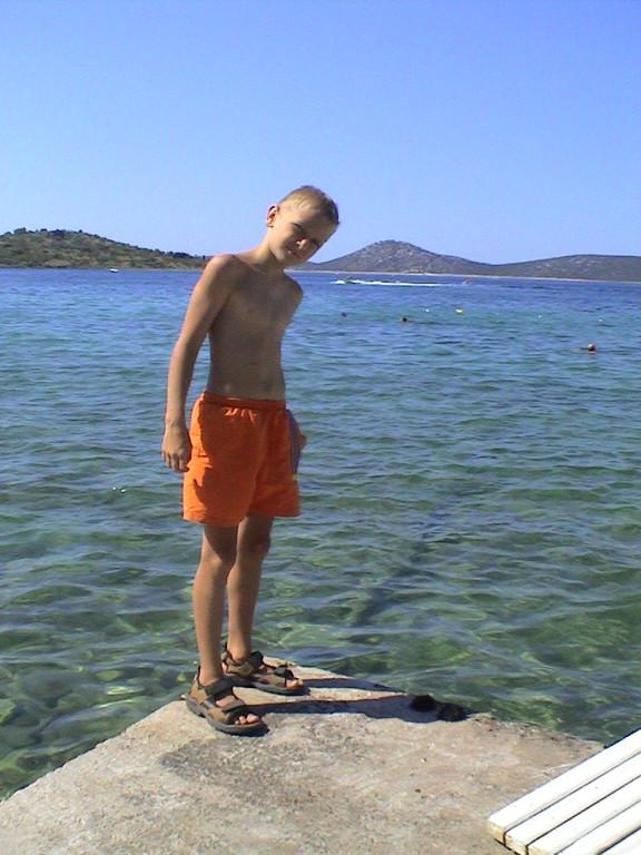 Dominik am Starigrad Strand