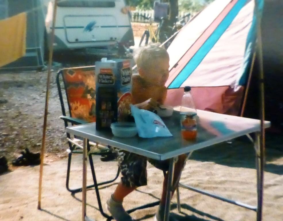 Zelt am Campingplatz Porec