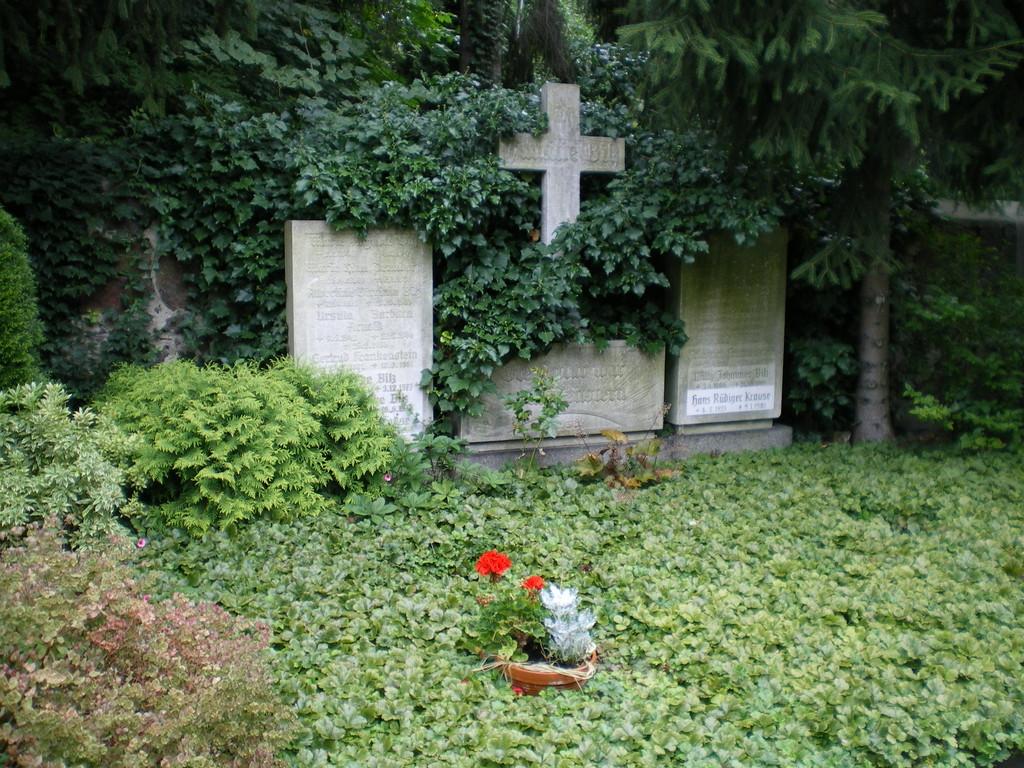 Die Grabstätte seines Freundes Bilz, neben der Karl May Grabstätte