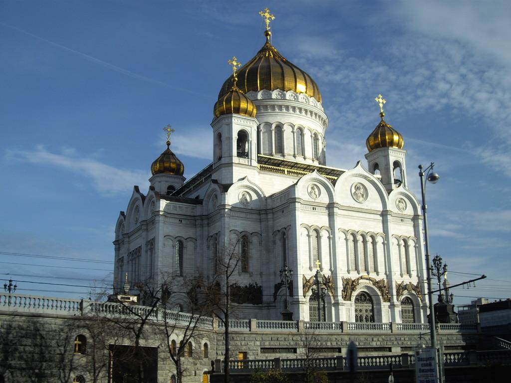 die Christi - Erlöser - Kirche Wiederaufgebaut in den 1990 er Jahren