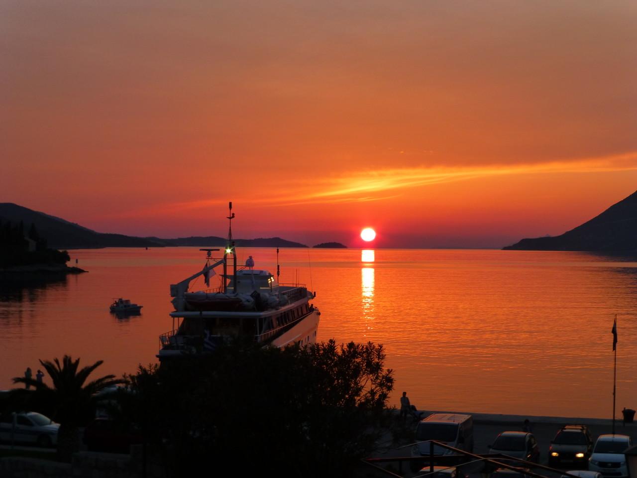 Sonnenuntergang Korzula