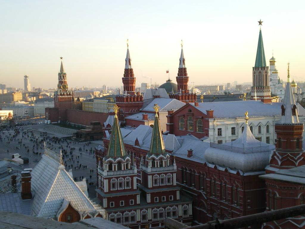 vom Bau des hotel Moskau Blick auf den Roten Plaz