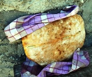 Maria hat mir ein wunderbares Brot gebacken