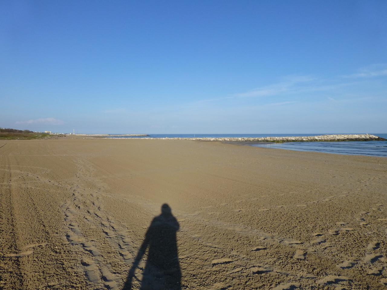 am Strand von Cavalino