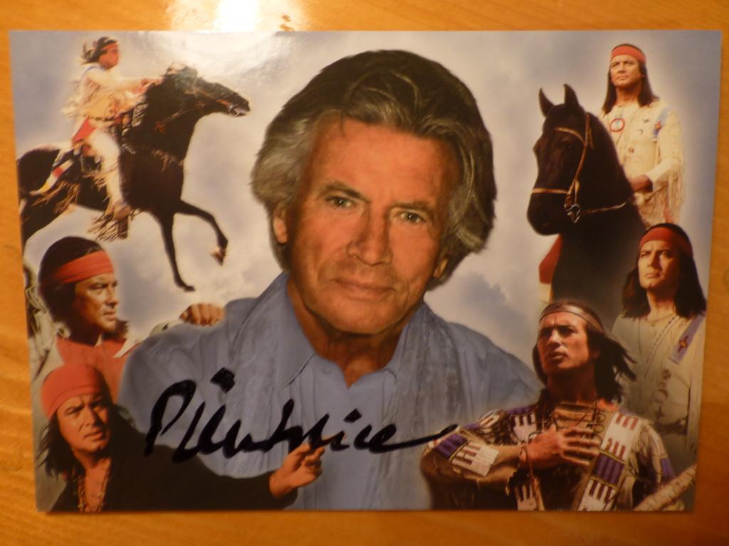"""Eine wunderbare Karte mit Autogramm von Pierre Price """"WINNETOU"""""""