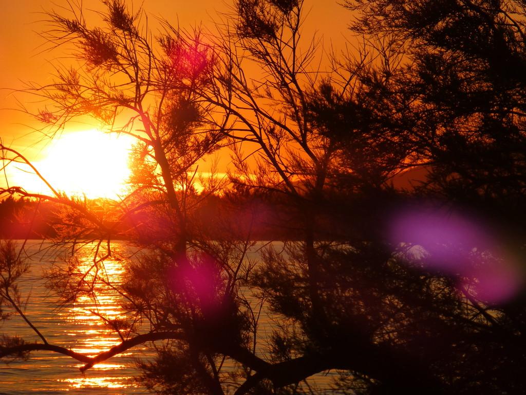 Sonnenuntergang in Richtung Hotel Alan
