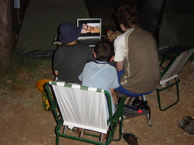 Winnetou ist überall dabei - am Abend werden die Filme angeschaut