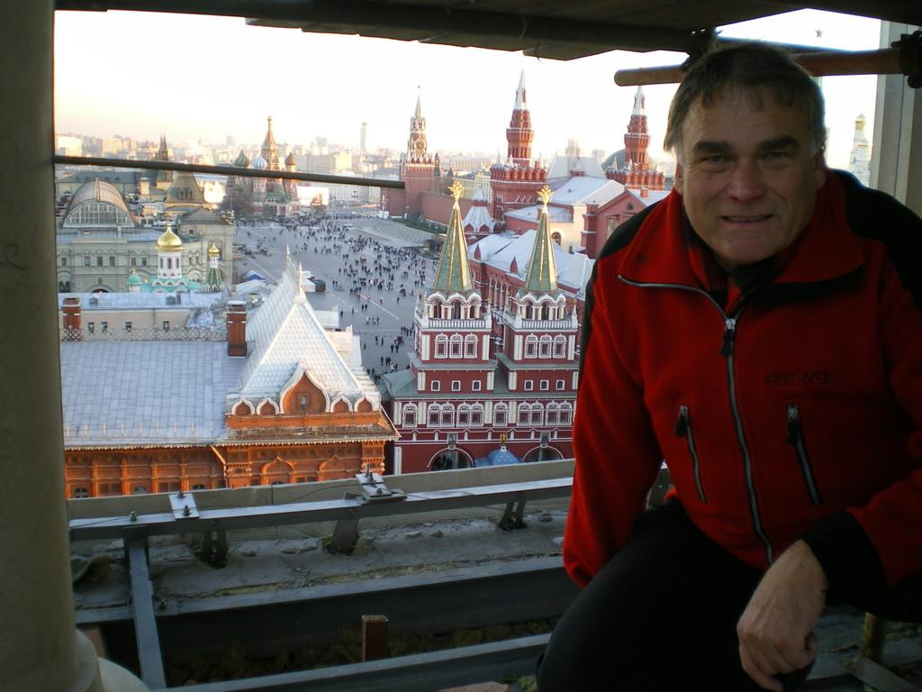 herrlicher Blick vom Bau des Hotel Moskau aus