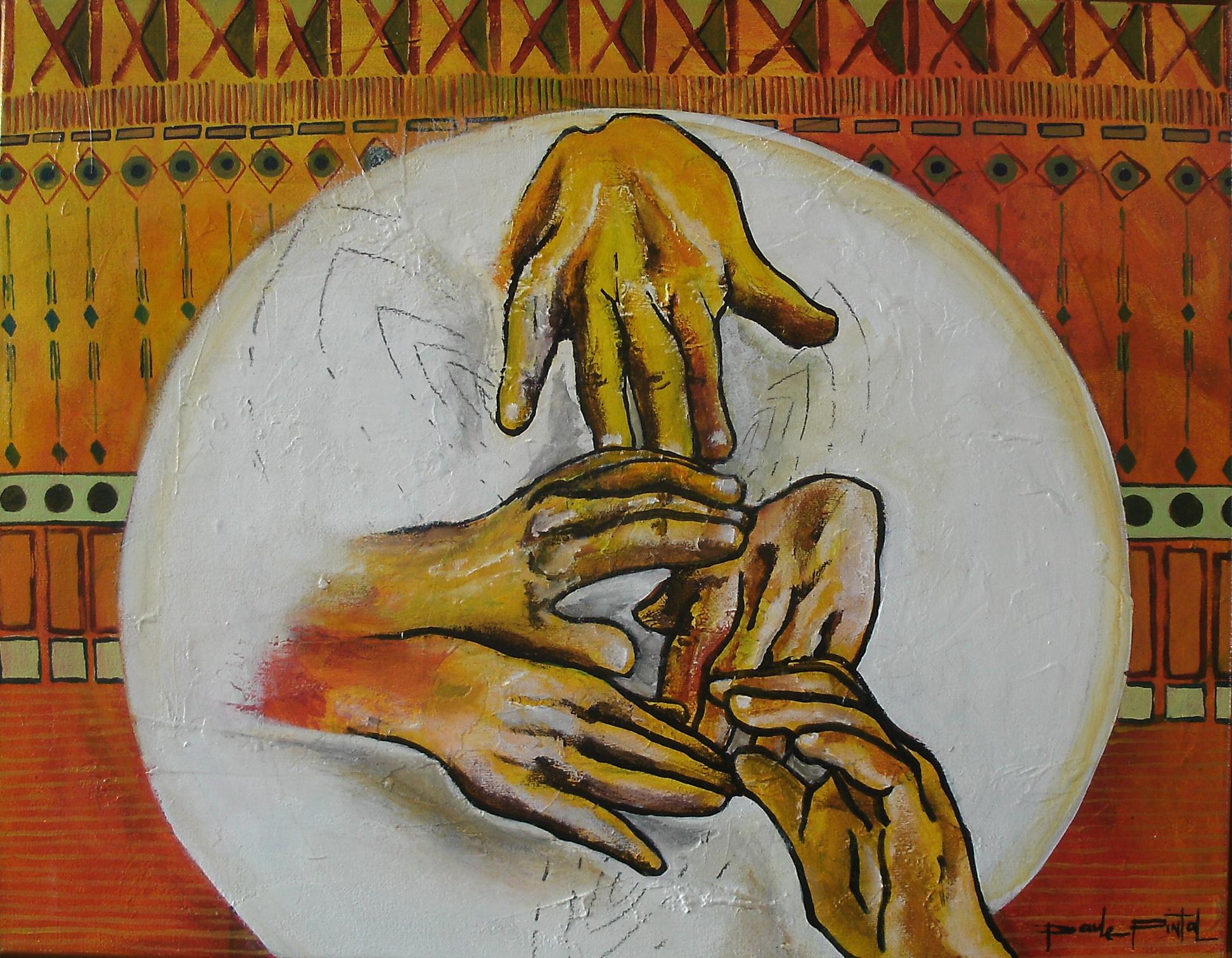 IMPROVISATION, acrylique sur toile