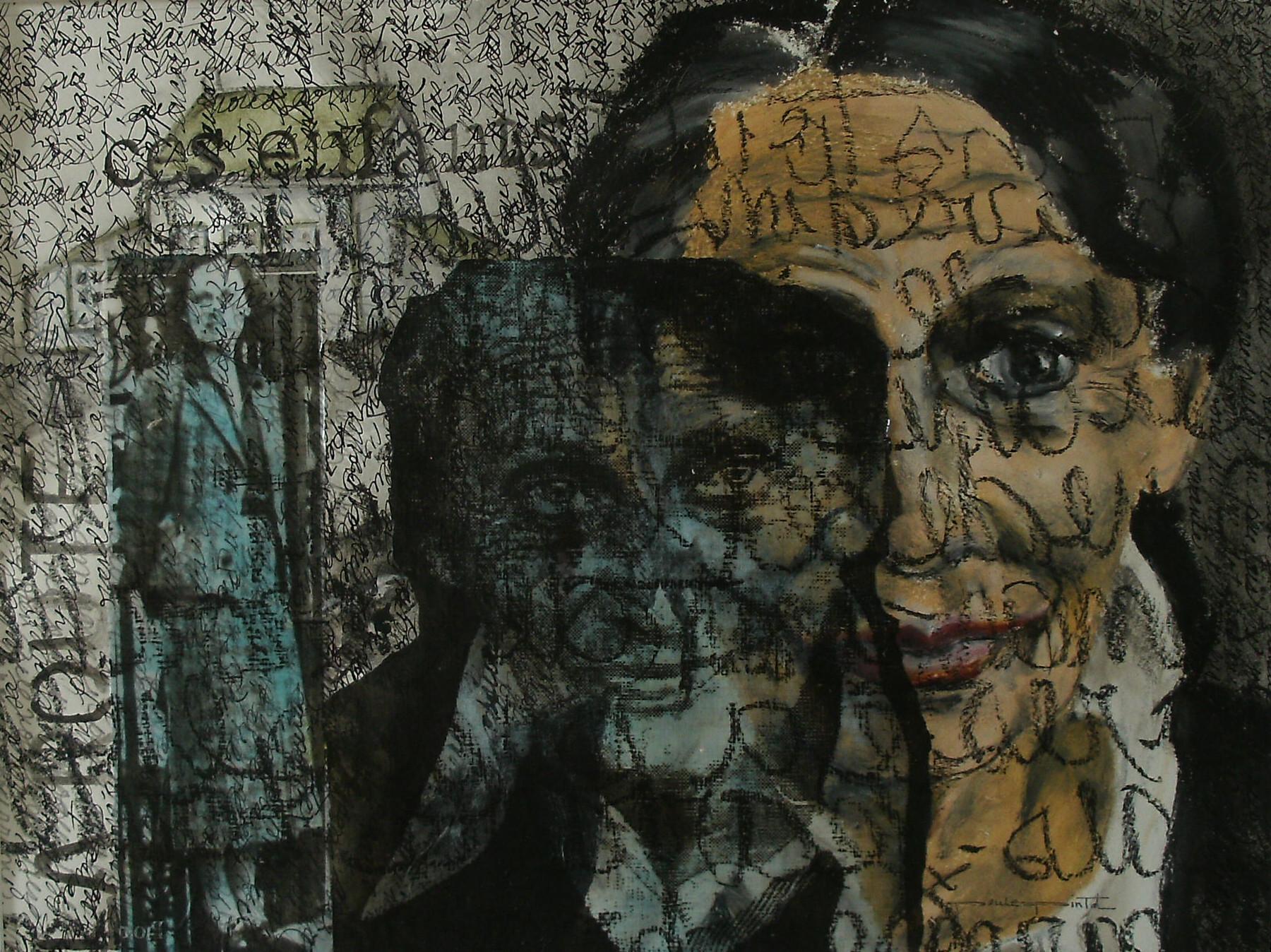 HOMMAGE À GABRIELLE ROY, technique mixte sur papier, collection privée