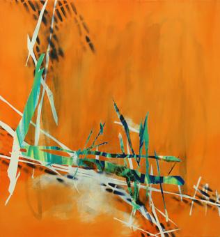 Untitled - 2018 - 60cm x 55cm - Oil/Lack on Canvas