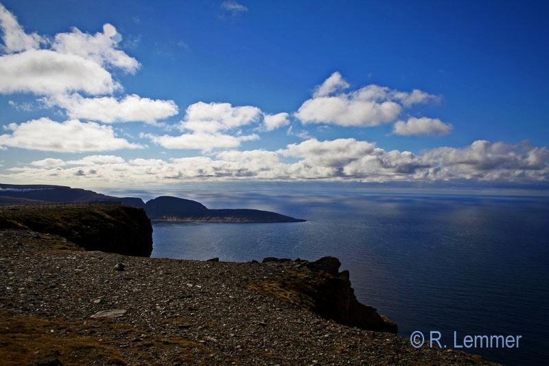 Blick vom Nordkap auf das Polarmeer