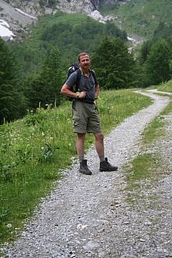 Rainer auf dem Weg zur Wolajer Hütte in Kötschach / Österreich