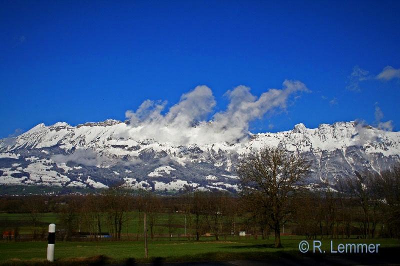 Blick von Liechtenstein in die Schweiz