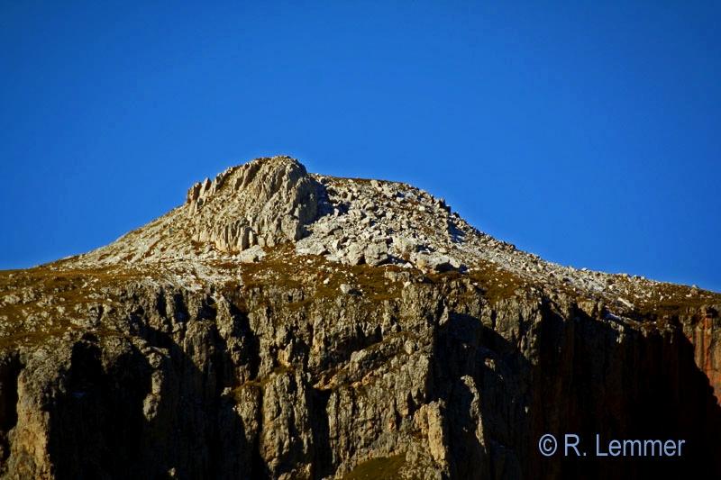 Schlern Gipfel mit 500er Tele fotografiert