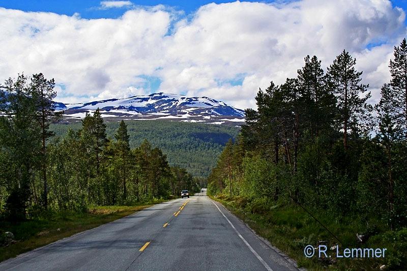 Einsame Straße in Mittel Norwegen