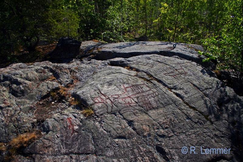 Steinzeitliche Felsritzungen am Nämforsen