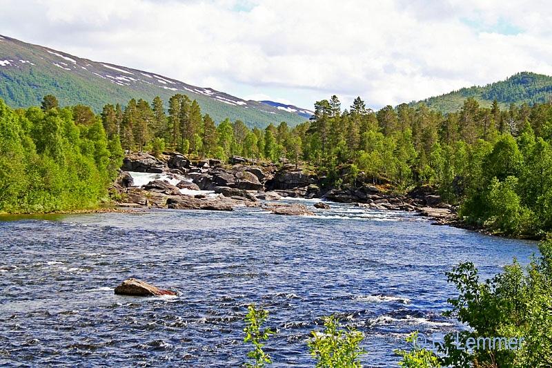 Wasserfall in Mittel Norwegen