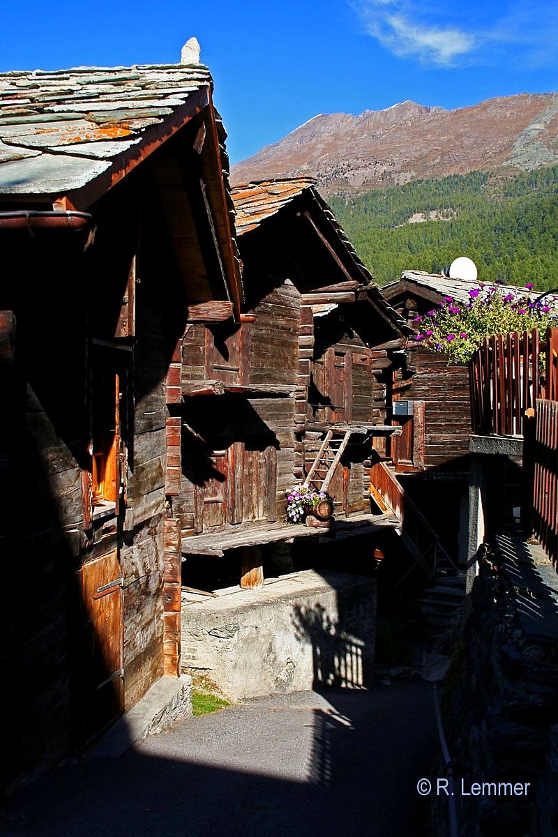 Historische Altstadt in Zermatt