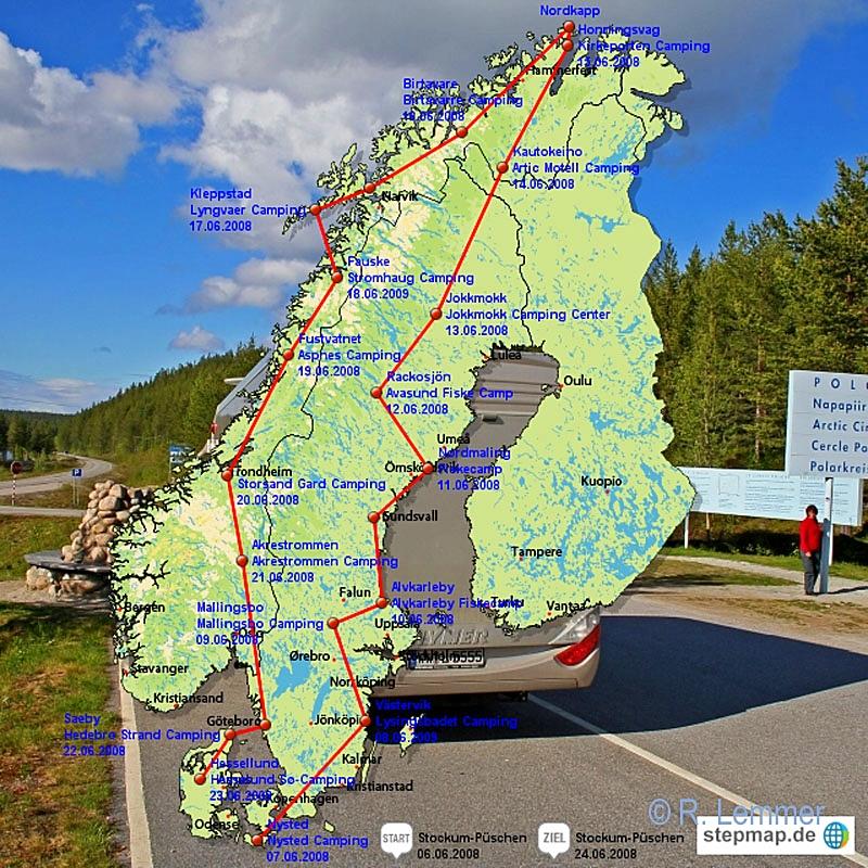 8.500 km mit dem Wohnmobil vom Westerwald bis zum Nordkap