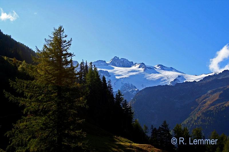 Schweizer Bergwelt auf dem Weg zum Mt. Blanc