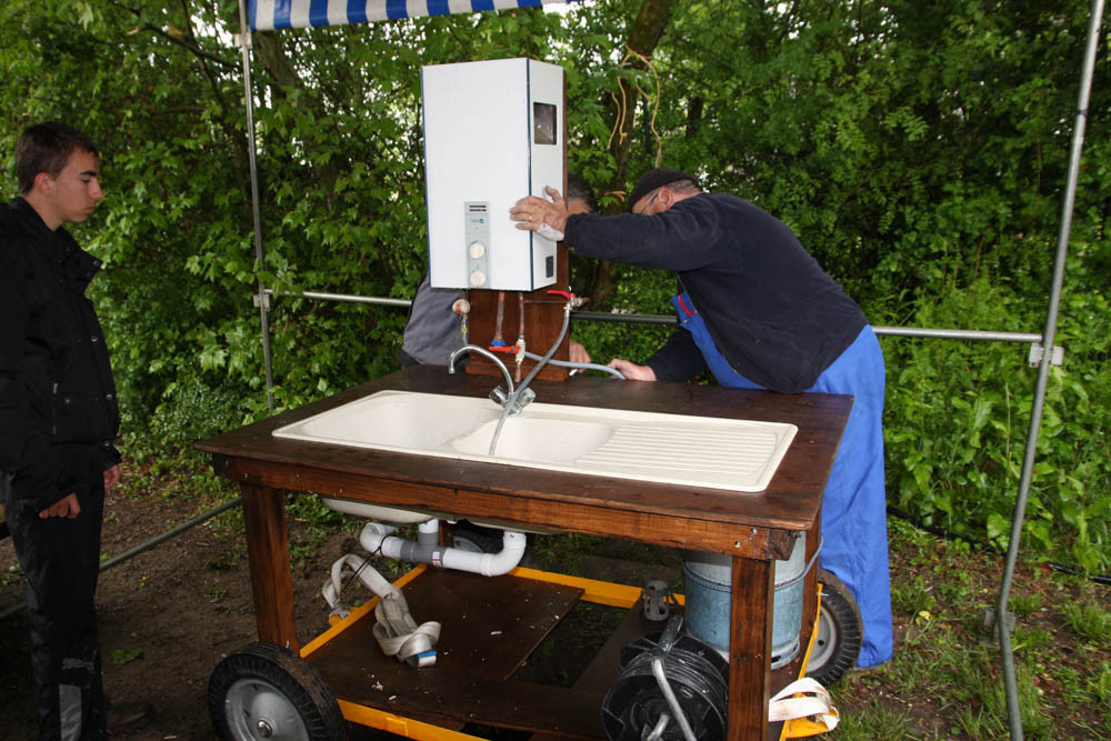 Installation de la laverie