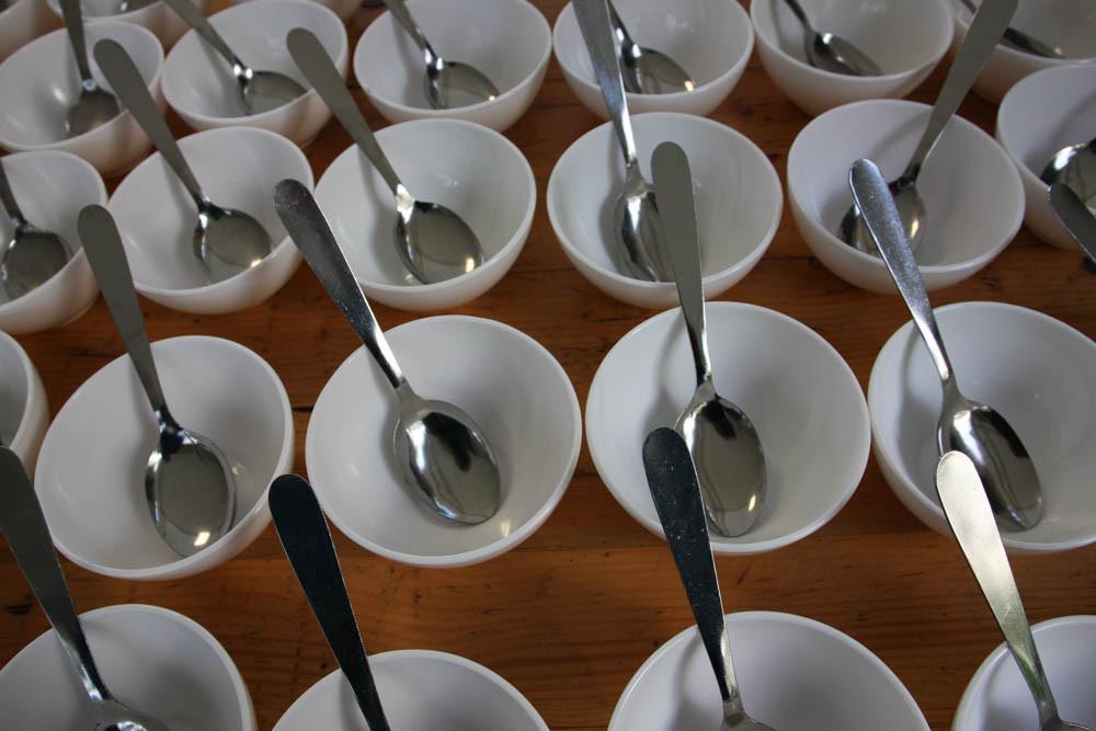 Les bol sont prêt pour la soupe