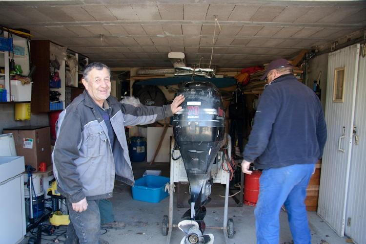 C'est fini il est dans le garage