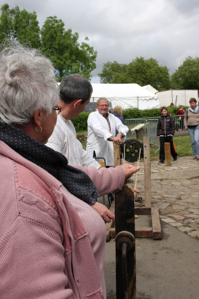 Démonstration des Chanvriers de Montjean-sur-Loire