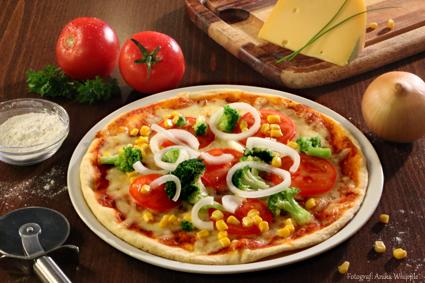 Hausgemachte Pizza Vegetaria