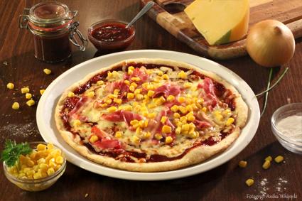Hausgemachte Pizza Texana