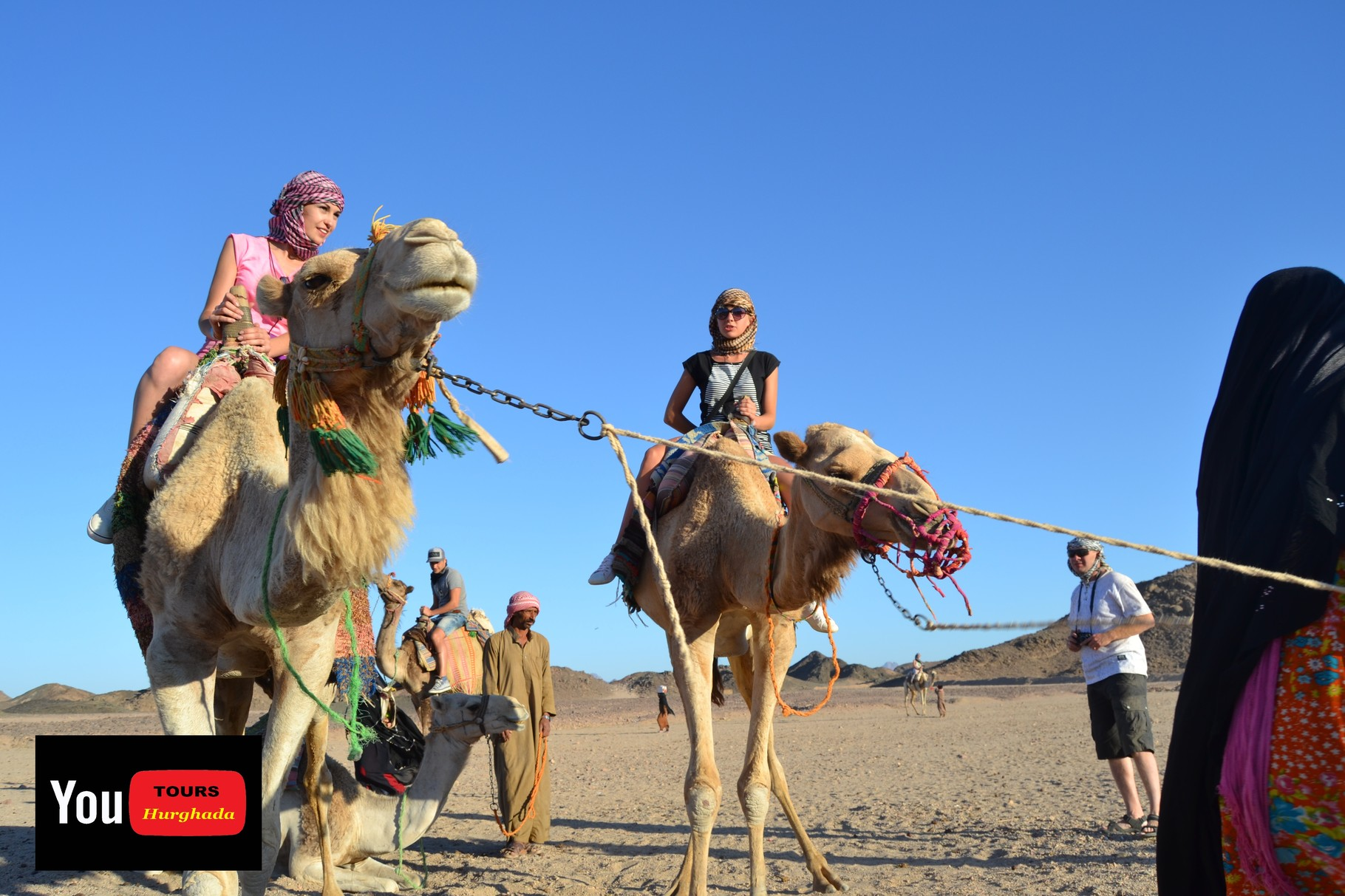 Kamel Reiten in der Wüste