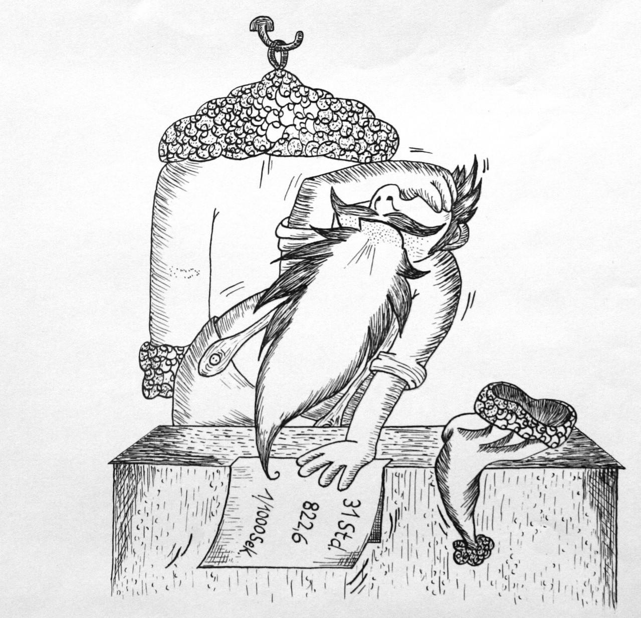 Scriptol - Illustration über den Weichnachtsmann