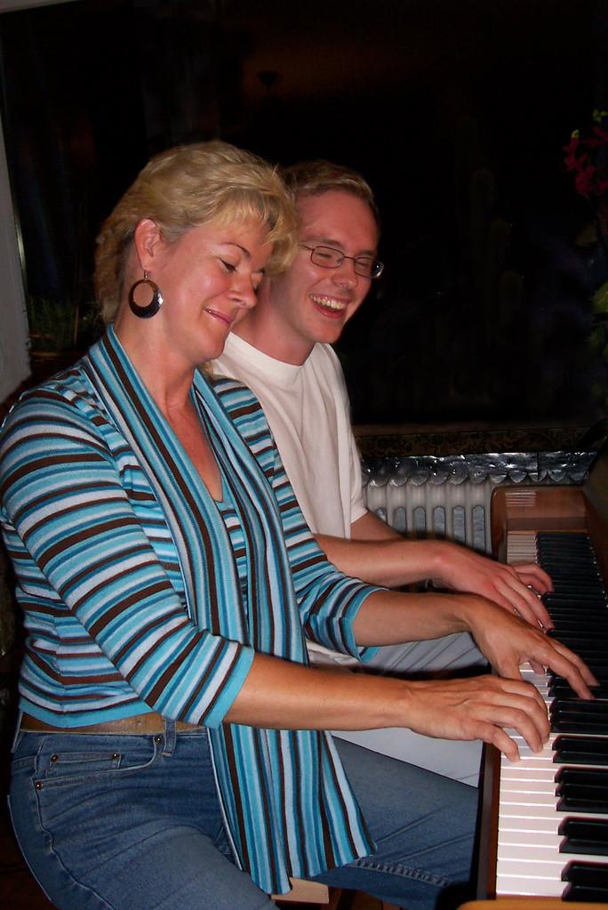 Musikfestival in Nürnberg, mit Frank - ein Professor der Jazz-Musik