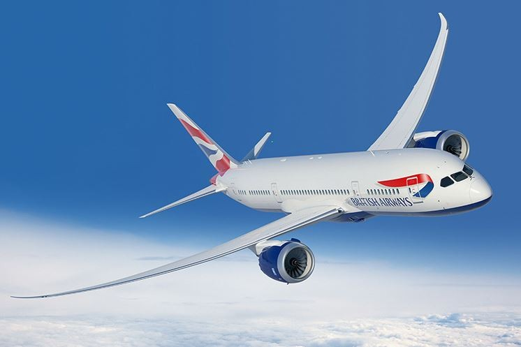 British Airways in der Luft