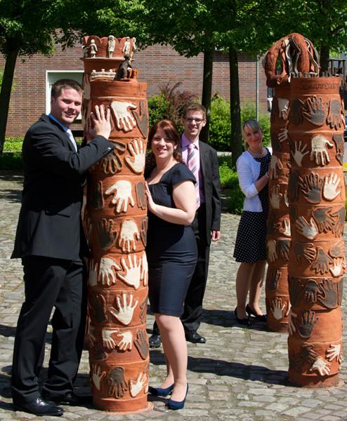 Standesamt Twistringen 16.05.2014 André und Svenja mit Bernd und Christin (Trauzeugen)