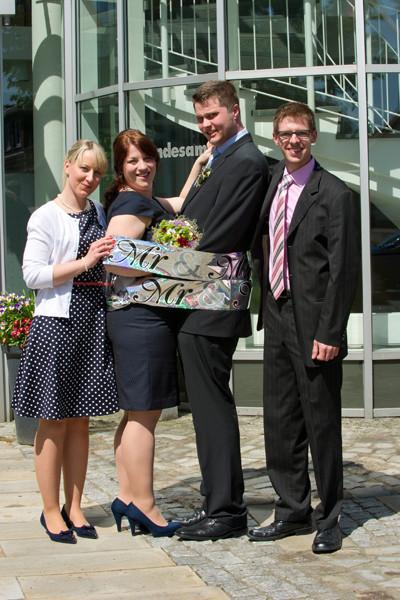 Standesamt Twistringen 16.05.2014 André & Svenja mit Bernd und Christin (Trauzeugen)