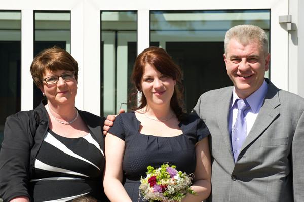 Standesamt Twistringen 16.05.2014 Svenja mit Eltern