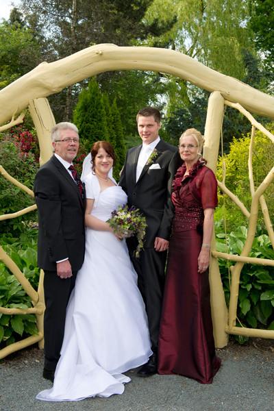 André und Svenja mit Eltern