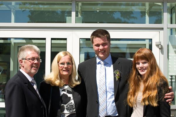 Standesamt Twistringen 16.05.2014 André mit Familie
