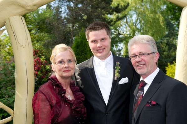 André mit Eltern