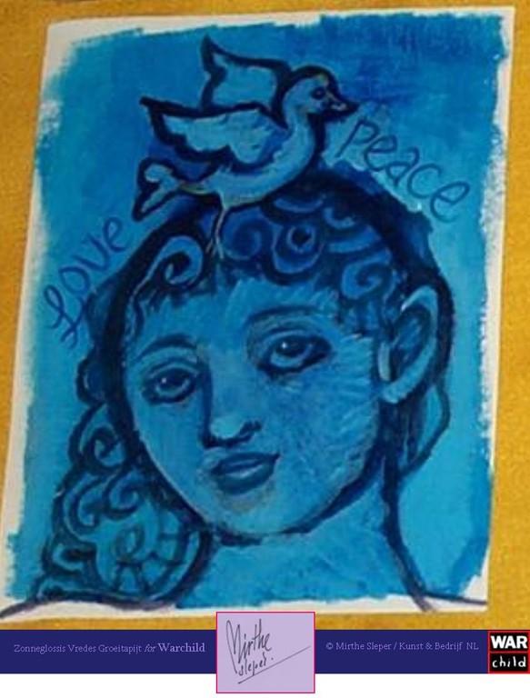 Love Peace - Gesigneerd: Mirthe Sleper 2011