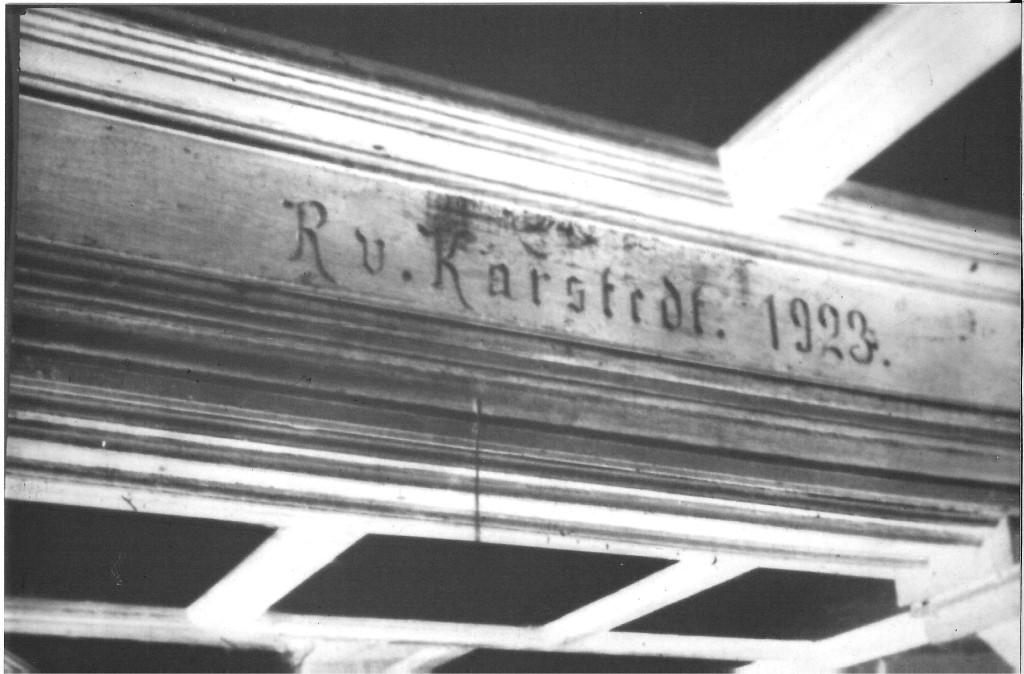 Balken R.v.Karstedt 1923 (Raimar Kurt v.Karstedt)