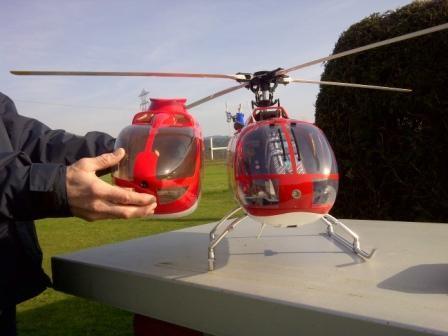 Gunters EC135 Rumpf im vergleich zu der BO105 von Klaus