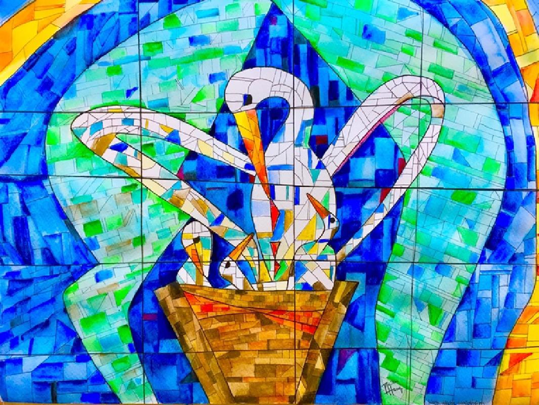 Kirchenfenster von HL. Kreuz in Waldheim