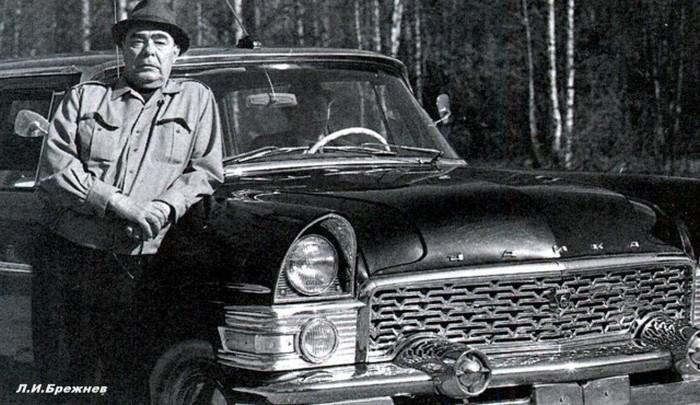 Леонид Ильич Брежнев с любимой Чайкой. 70-е