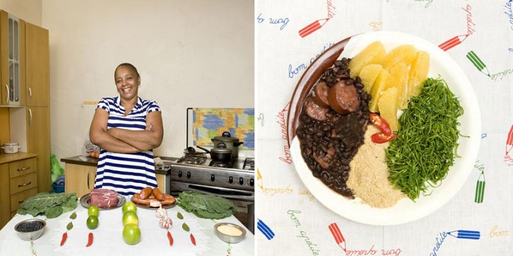 Бразилия. Блюдо: фейжоада (блюдо из фасоли, мяса, маниоковой муки и овощей).