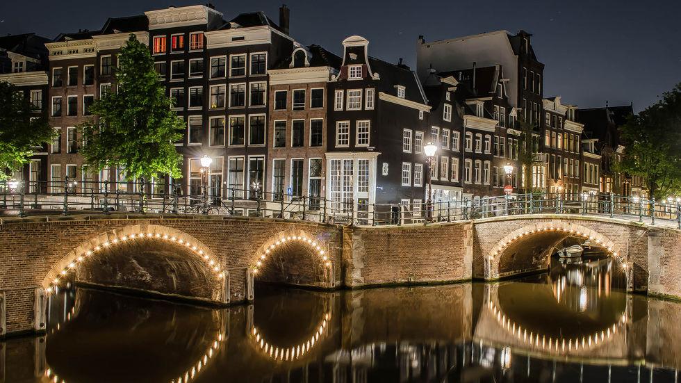 Семь мостов в Амстердаме
